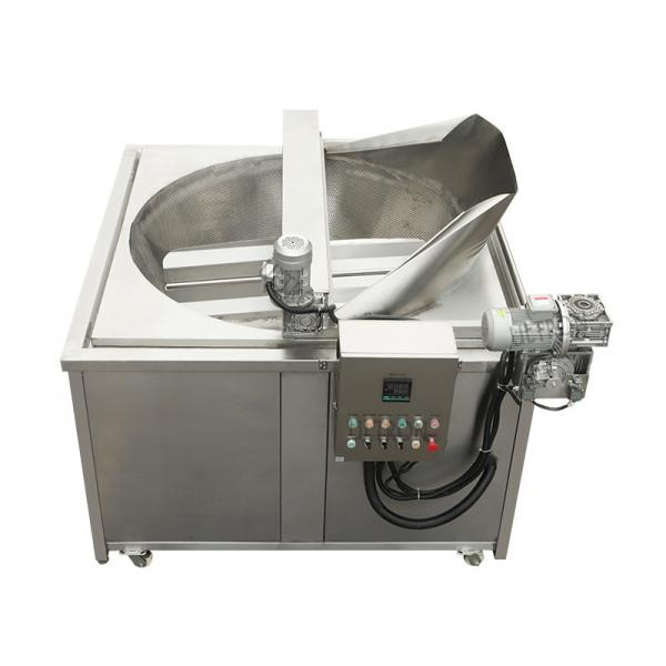 Automatic Chicken Beef Veggies Nuggets Burger Continuous Deep Fryer Machines